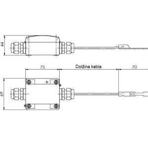 Javljalnik kondenzacije ANDKDW2EXT-1