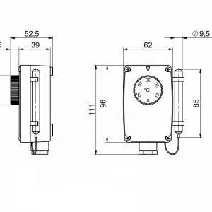 Potopni termostat z oddaljeno sondo, enostopenjski-ANDKTTH1-2