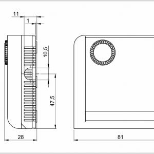 Prostorski higrostat za notranjo ali zunanjo montažo- ANDRHY-2