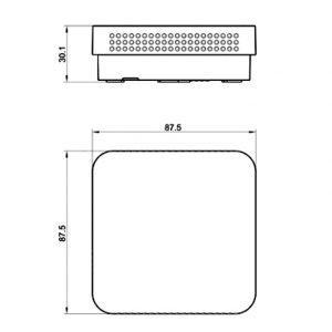 Prostorsko tipalo kvalitete zraka z LED prikazom- ANDRALQA-U_ANDRALQA-I-2