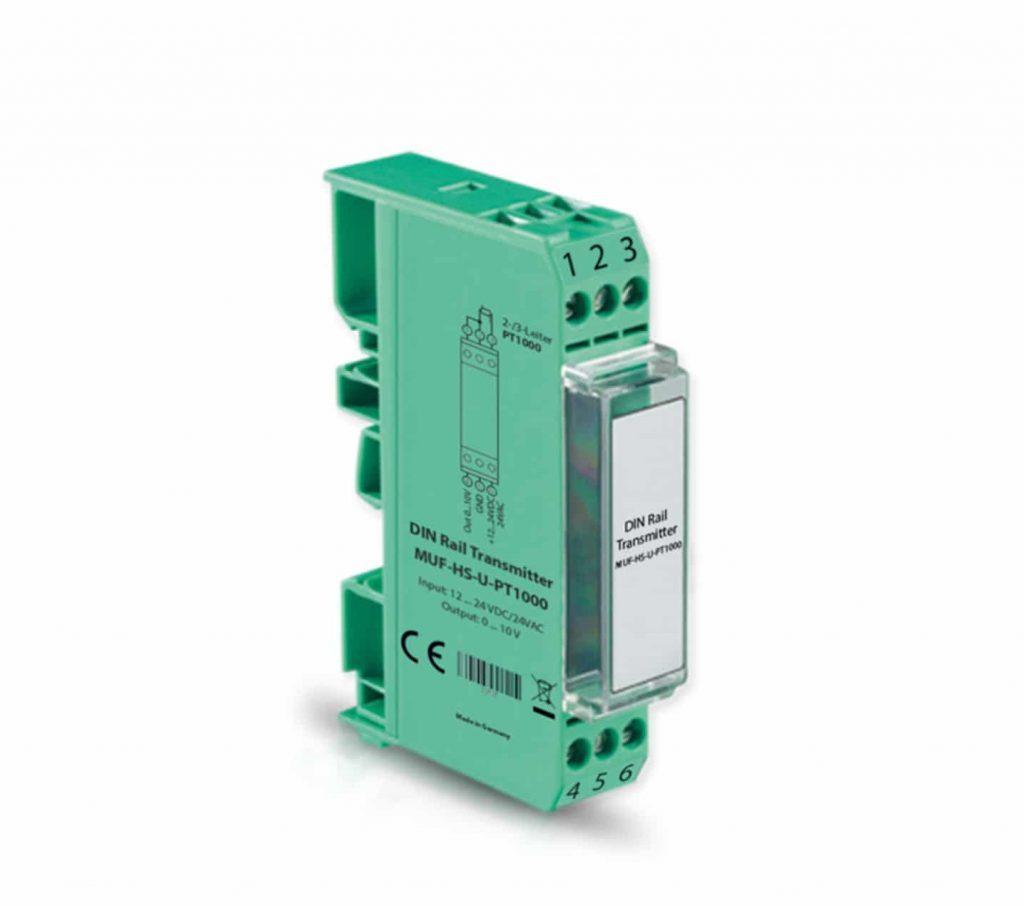 Temperaturni merilni pretvornik za PT1000–normni-za DIN letev-ANDMUF-HS-1