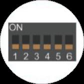 Aktivni temperaturni senzorji Andivi - DIP stikalo - switch