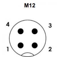Elektricni prikljucek M12 - 4 PIN