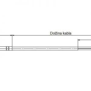 Modbus tehnicna slika za kabelsko nalezno temperaturno tipalo ANDKBTF-MD