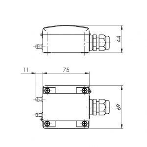 Modbus tehnicna slika za merilni pretvornik diferencialnega tlaka ANDDDMU-MD