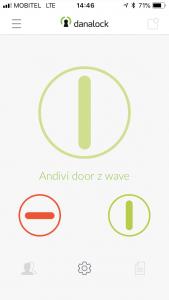 Danalock aplikacija odpiranje vrat