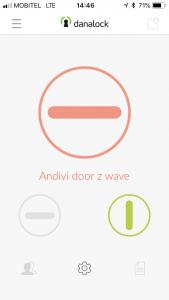 Danalock aplikacija zaklepanje vrat