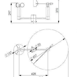 Kombiniran senzor za hitrost in smer vetra ANDWM3-2