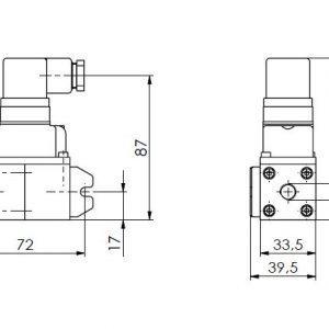 Merilni pretvornik tlaka in diferencialnega tlaka ANDFDE40-1