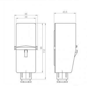 Naležni termostat za notranjo postavitev-ANDANTH4