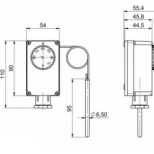 Potopni termostat z oddaljeno sondo, enostopenjski-ANDKTTH2-2