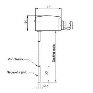Potopno temperaturno tipalo s fleksibilnim silikonskim vodnikom-ANDKNTFF-2