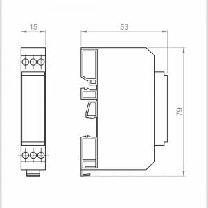 Temperaturni merilni pretvornik za PT1000–normni-za DIN letev-ANDMUF-HS-3