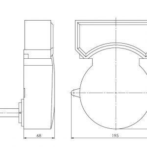 detektor dima za prezračevalne vode ANDUG-5-AFR-2