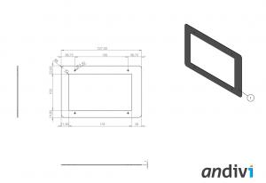 Ohisje za zaslon na dotik_touchscreen_Namestitev na zid okvir_dimenzije