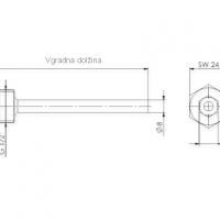 Strocnica iz nerjavecega jekla z vijakom za pritisk in objemko ANDTHVA2_2