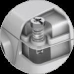 Hitro privijačenje / odvijačenje pokrova senzorja z le 1/4 zavoja.