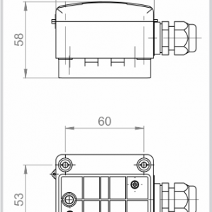 Modbus tehnicna slika za nalezno temperaturno tipalo ANDANTF1-MD