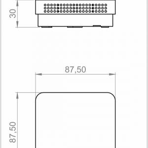Modbus tehnicna slika za prostorsko temperaturno nadometno tipalo plasticno ohisje ANDRTF3-MD