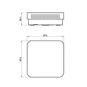 Modbus tehnicna slika za prostorsko tipalo kvalitete zraka ANDRALQ-MD