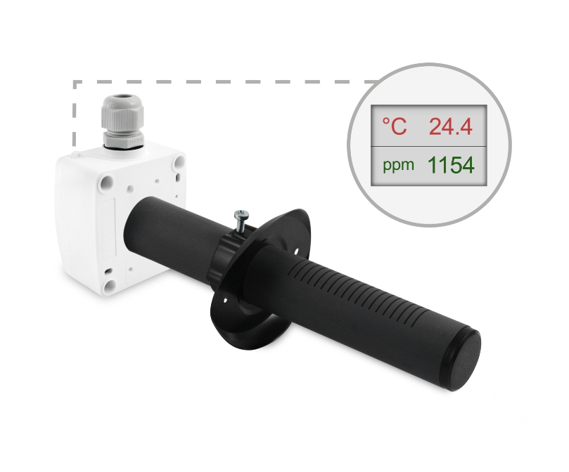 Kanalski senzor kvalitete zraka ANDKALQ z LED ekranom ppm temp