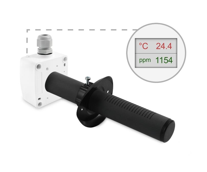 Kanalski senzor za CO2 ANDKACO2 z LED ekranom ppm temp