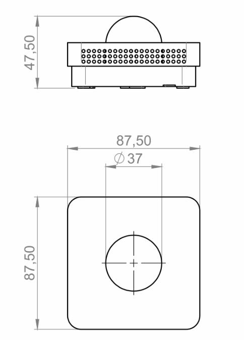 Modbus notranji senzor sevanja temperature ANDRSTFMD tehnična slika