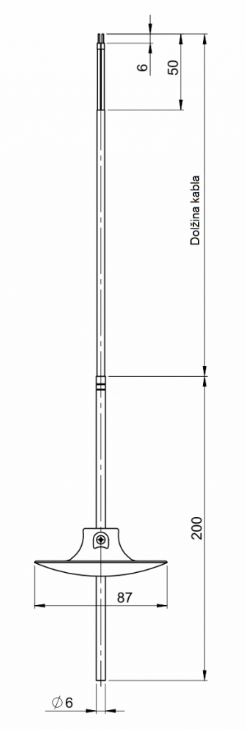 Modbus potopni kabelski temperaturni senzor ANDKBTFLMD - 2