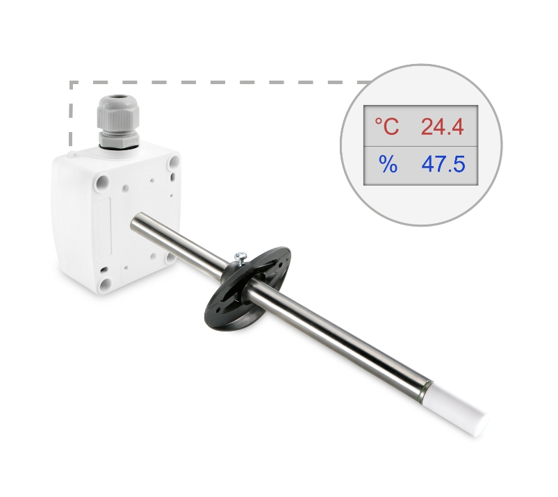 Kanalski senzor temperature in vlage ANDKFFTR-XS z LCD ekranom