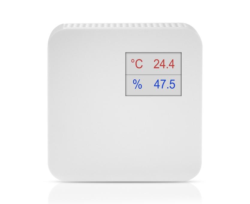 Notranji senzor za temperaturo in vlago ANDRFFTR-XS z LCD ekranom spredaj
