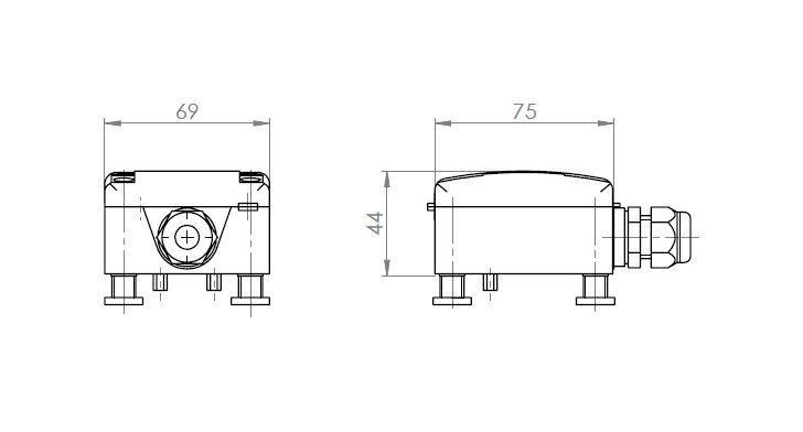 Senzor puščanja tekočin ANDLGM tehnična risba