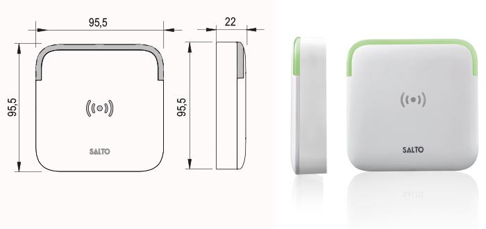 stenski bralnik xs4 tehnična skica